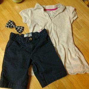 Old Navy Set of 2 Girls School Uniform Shirt Short